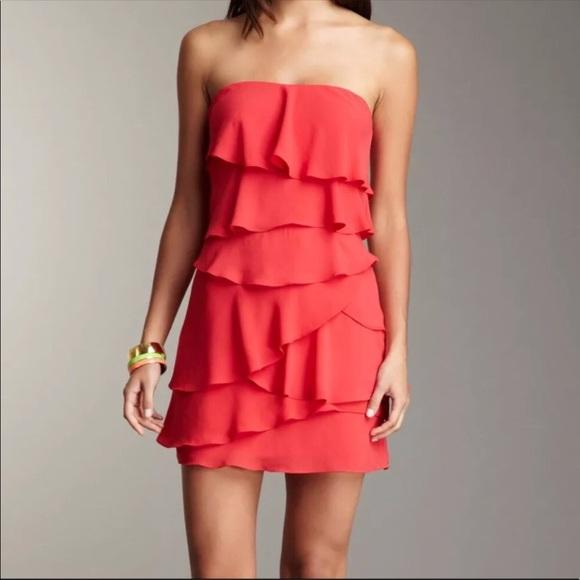 40ccc6806a555 BCBGMaxAzria Dresses | Bcbg Maxazria Strapless Ruffle Tiered Dress ...